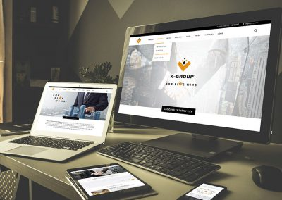 GIAO DIỆN WEBSITE K-GROUP
